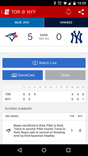 mlb espn android
