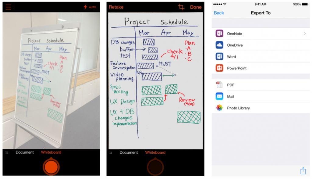 first look office lens scans documents and whiteboards into