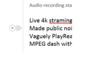 onenote audio sync