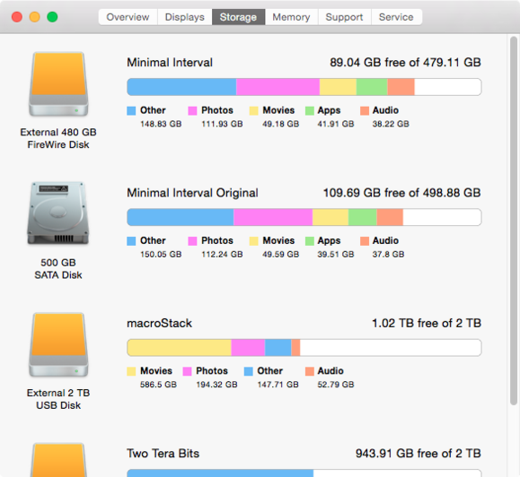 os x about this mac storage