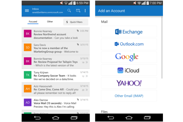 Outlook for Android sheds preview tag after massive feature