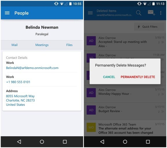 Outlook For Android, IOS Updated With Smarter Address Book