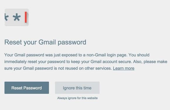 password alert