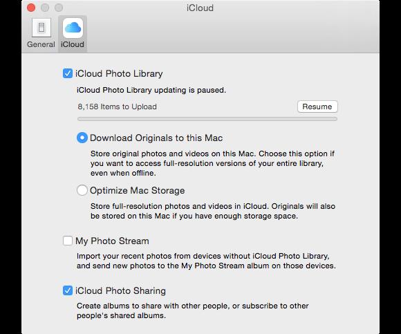 photos icloud photo library prefs