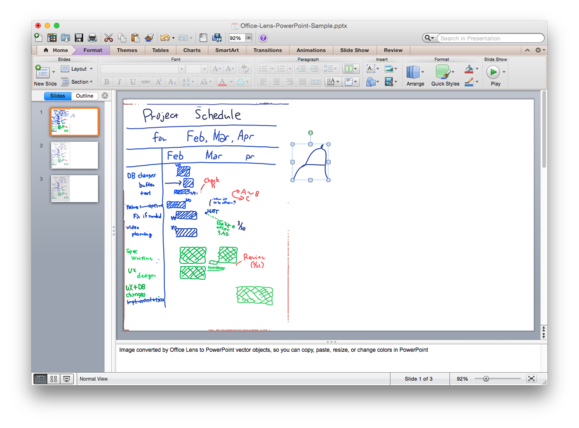 powerpoint office lens example