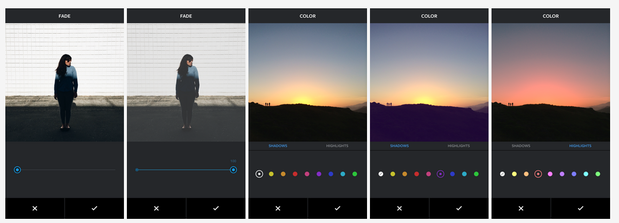 instagram color and fade