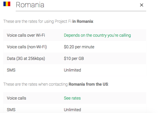 romanian project fi rates