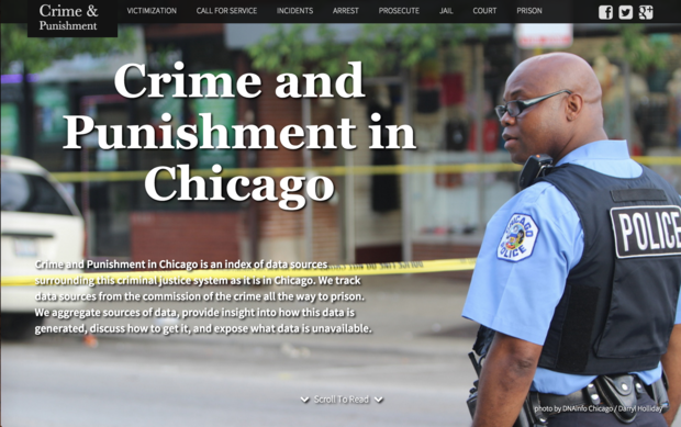 Screenshot of the Crime and Punishment Project, Chicago Illinois.