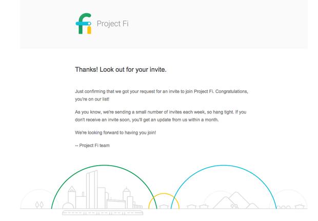 Google Fi invitation