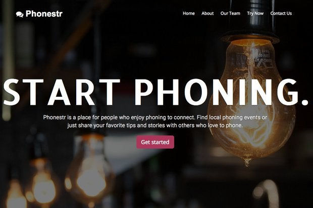 random startup website generator