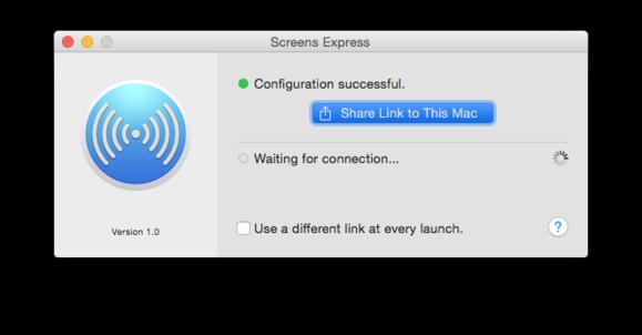 screens express configuration successful