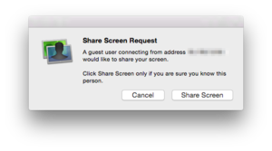 screens express share screen request