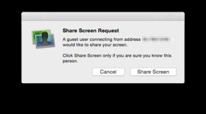 screens express share screen request