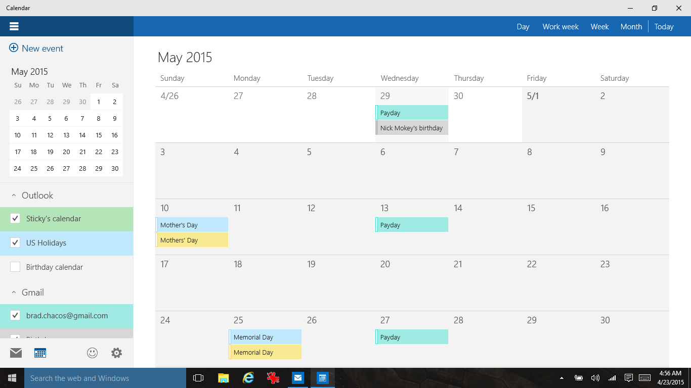 Calendar Apps For Windows : Windows build hands on exploring the new