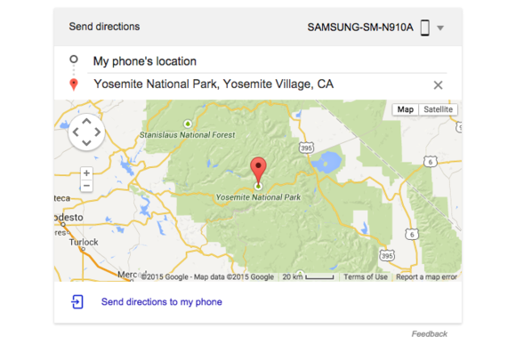 send directions google