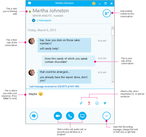skype for business conversation