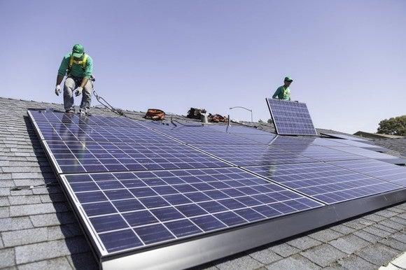 SolarCity installation