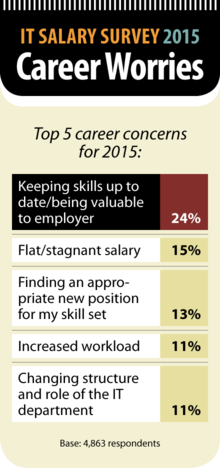 Computerworld IT Salary Survey 2015: Career Worries [chart]