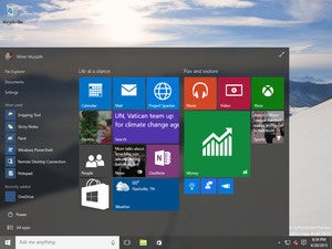 Start Menu: Windows 10 Build 10074