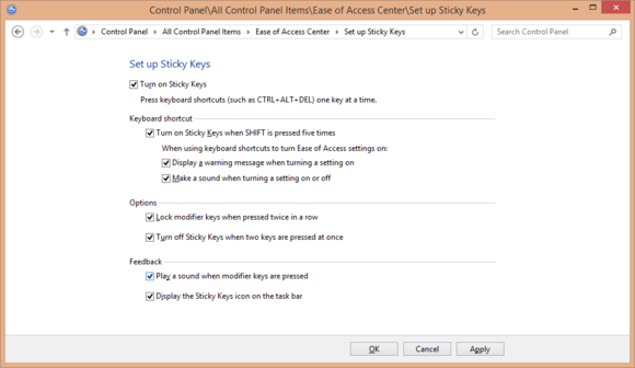 Streamline keyboard shortcuts even more with Sticky Keys