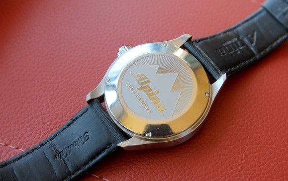 swiss smartwatch alpina emboss back