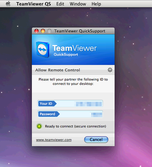 teamviewer quicksupport on os x leopard