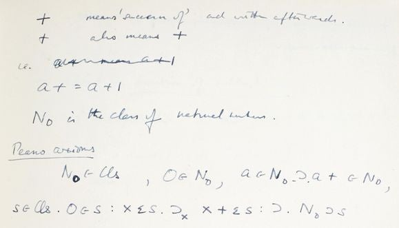 A manuscript written by Alan Turing during his time at Bletchley Park