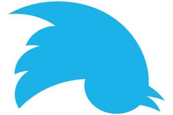 twitter bird upsider down