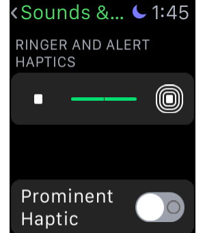 watch haptics settings