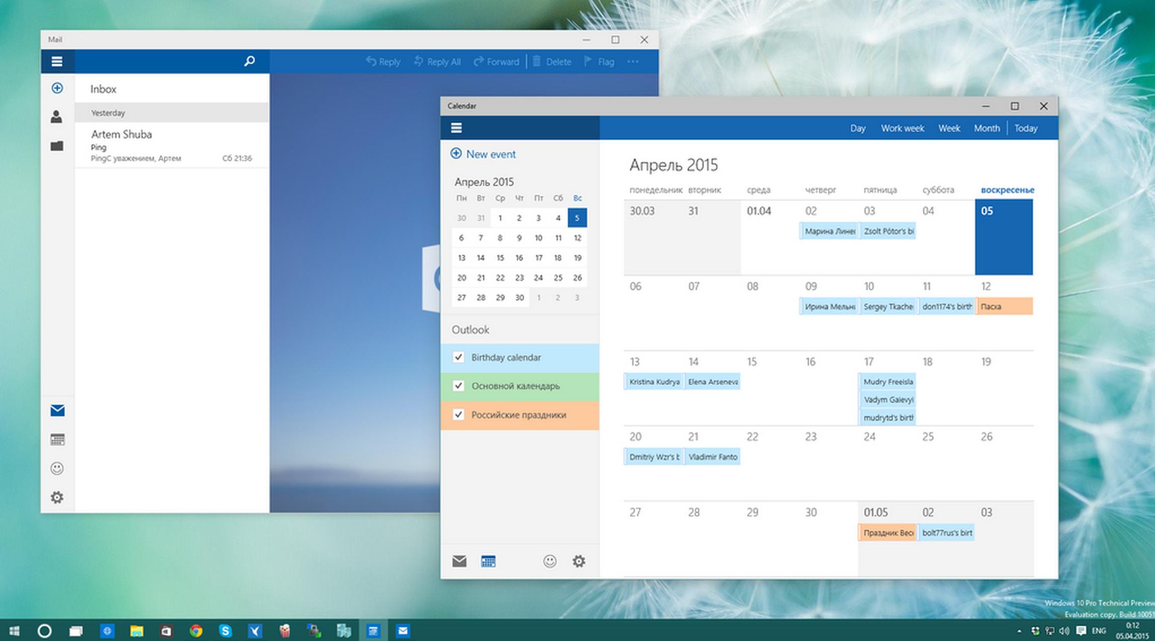 Leaked Windows 10 build brings Google Calendar support back