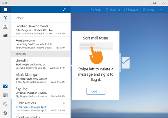 windows 10 mail app