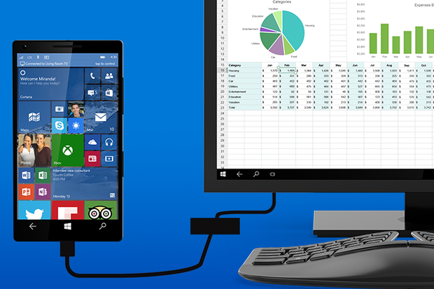 windows 10 phones continuum