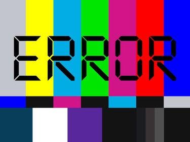 error signal television problem broken