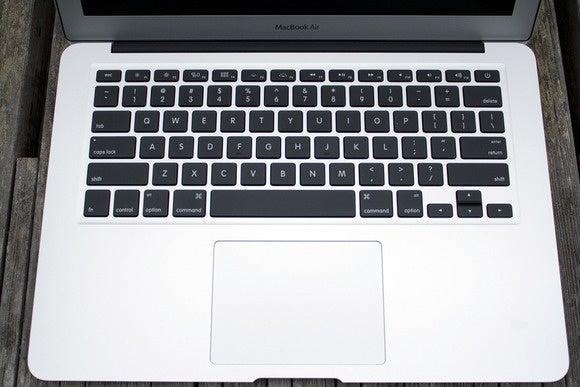 2015 MacBook Air keyboard and trackpad