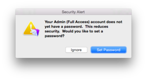 4 fmp 14 password warning