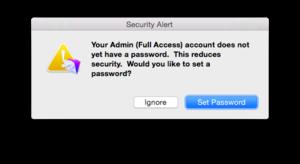 4 fmp 14 password warning