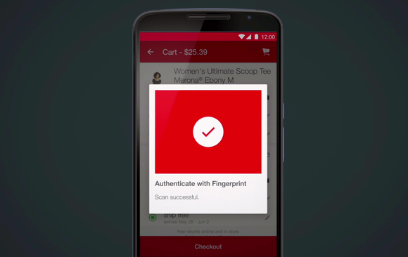 android m authenticate target app fingerprint