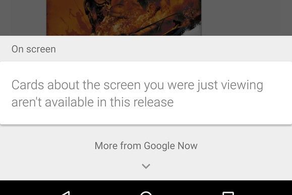 android m now on tap