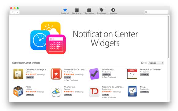 app store notification widgets