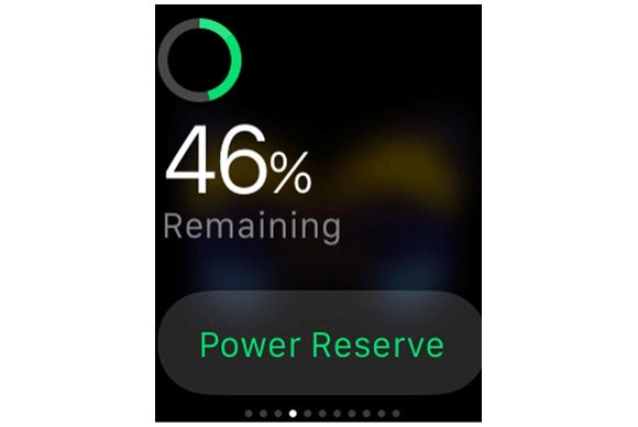 apple watch battery remaining