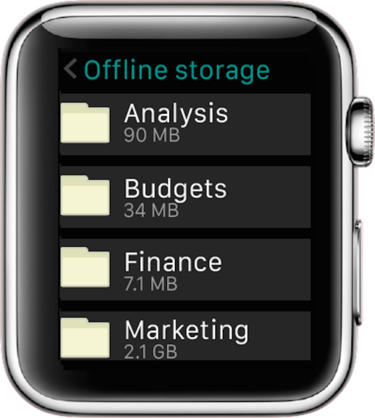 apple watch egnyte app