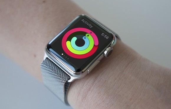 apple watch on wrist 1