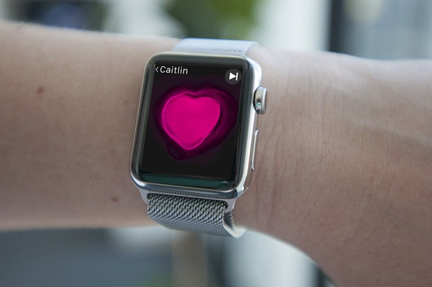apple watch on wrist 2