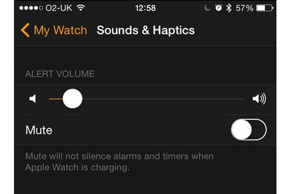 apple watch sound mute