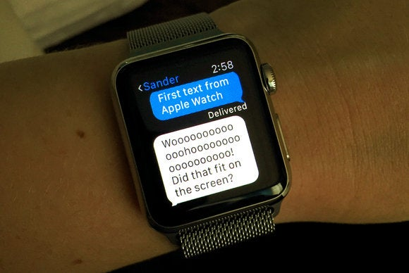 apple watch first text