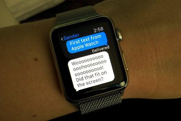 apple watch first text
