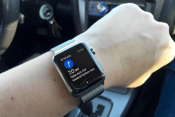 apple watch maps in car
