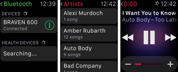 apple watch music 3up