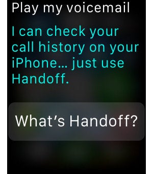 apple watch siri voicemail