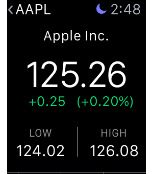 apple watch stocks